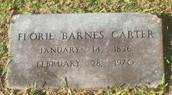 Florie <I>Barnes</I> Carter