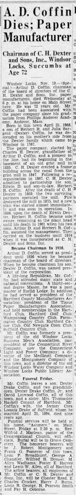 Arthur Dexter Coffin (1868-1940) - Find A Grave Memorial