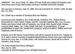 Anna <I>Ziegelman</I> Schell