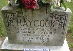 Eliza May <I>Wilder</I> Haycock