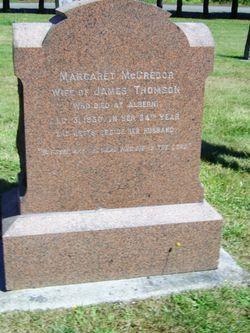 Margaret McCririck <I>McGregor</I> Thomson