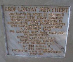 Dr Menyhért Count de Nagylónya et Vsásárosnamény Lónyay