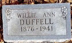 Willie Ann <I>Sides</I> Duffell