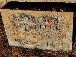 Mary Ann <I>McEachern</I> Wilson