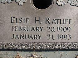 Elsie Saphronia <I>Hancock</I> Ratliff