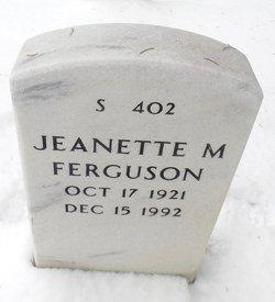 Jeanette M Ferguson
