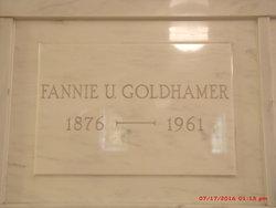 Fannie <I>Unger</I> Goldhamer