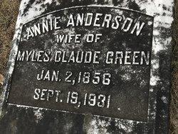 Annie <I>Anderson</I> Green