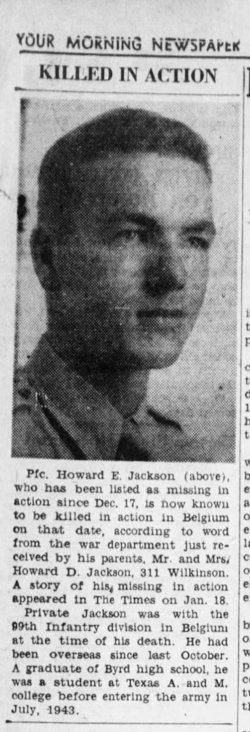 PFC Howard E. Jackson