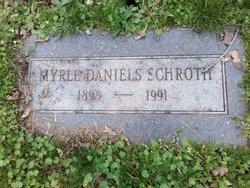 Myrle Meda <I>Daniels</I> Schroth