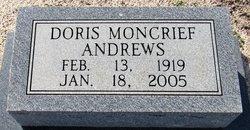 Doris <I>Moncrief</I> Andrews