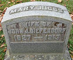 Mary <I>Riggs</I> Diefendorf
