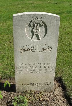 Risaldar Major Ahmad Khan Malik