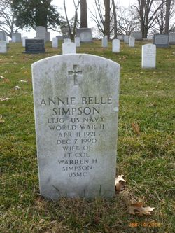 Annie Belle <I>Clement</I> Simpson
