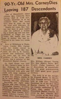 Gabrella <I>Kays</I> Carney