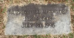 Lyda Murphy <I>Hall</I> Alexander