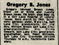 Gregory Ishmeal (Brown) Jones