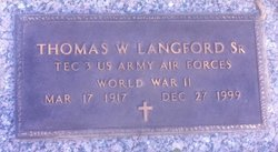 Thomas <I>Webb</I> Langford, Sr