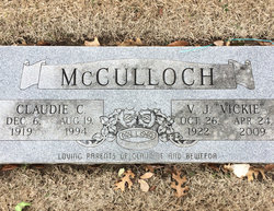 "Vernon Josephine ""Vickie"" <I>Price</I> McCulloch"