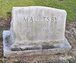 Mary Ann <I>Smith</I> Maultsby