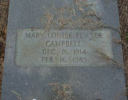 Mary Louise <I>Purser</I> Campbell