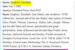 Elizabeth <I>VanDalen</I> Deighton