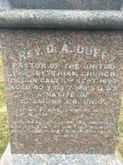 Rev David A. Duff
