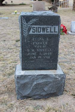Eliza A. <I>Parker</I> Sidwell