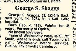 George S Skaggs