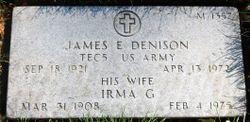 James E Denison