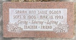 "Sarah Ann ""Sadie"" Ogden"