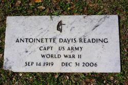 Antoinette <I>Davis</I> Reading