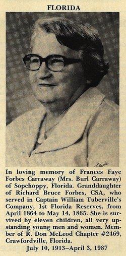 Frances Faye <I>Forbes</I> Carraway