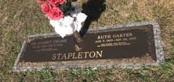 Rev Ruth <I>Carter</I> Stapleton