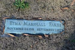 Etma B. <I>Marshall</I> Fakes