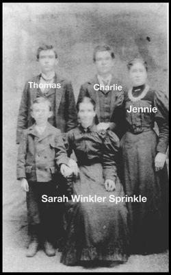 Sarah Jane <I>Winkler</I> Sprinkle