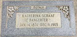 Katharina <I>Schaaf</I> Bangerter