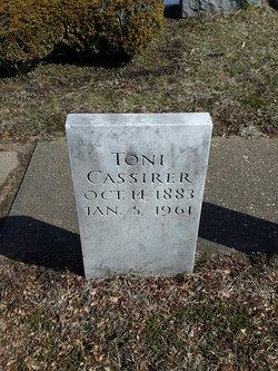 """Antonelle """"Toni"""" <I>Bondy</I> Cassirer"""