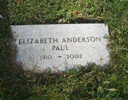 Elizabeth <I>Anderson</I> Paul
