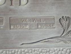 Zola Lillian <I>Snyder</I> Boyd