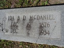 Ida Bell Dora <I>Pack</I> McDaniel