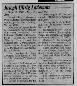 Joseph Uhrig Lademan III