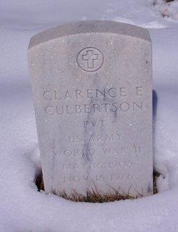 Clarence E Culbertson