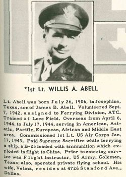 1LT Willis Autrea Abell