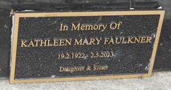 Kathleen Mary <I>Bertram</I> Faulkner