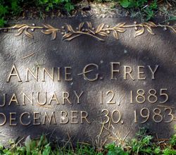 Annie Irene <I>Gentry</I> Frey