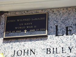 "John Wilfred ""Billy"" Lemaire"