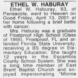 Ethel W. <I>Wainright</I> Haburay