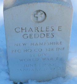 Charles E Geddes