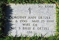 Dorothy Ann <I>Browne</I> Detzel